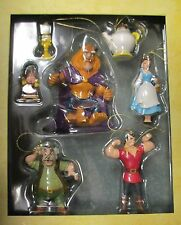 NEW Walt Disney Beauty and the Beast Belle Storybook 7 Piece Ornament Set