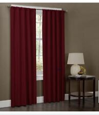 Microfiber Rod Pocket Window Curtains, Set of 2 Panels, 40 inch x 84 inch