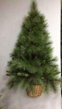 albero di natale verde classico da appendere a muro con rami folti altezza 120