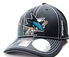 REEBOK M250Z NHL PRO DRAFT FLEX FIT HOCKEY CAP/HAT - SAN JOSE SHARKS - L/XL