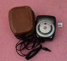 Vintage GE General Electric Exposure Meter Type PR-1 w/ Original Leather Case