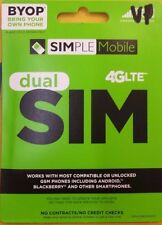 Simple Mobile $60 Sim Card + Unlimited 4G LTE preload 1st month Included