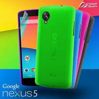 Matte Gel Case For Google Nexus 5 + Screen Guard TPU Jelly Soft Cover