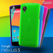 Matte Gel Case For Google Nexus 5 + Screen Guard TPU Jelly Soft Cover