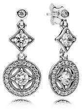 Authentic Pandora Vintage Allure Drop Earrings 290722CZ