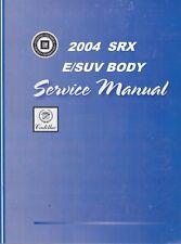 2004 Cadillac Srx Service Repair Workshop Shop Manual Gmt04Srx- 3 Volume Set(Fits: Cadillac)