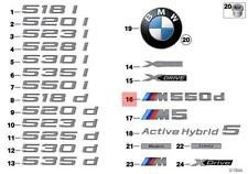 Genuine BMW F10 Sedan Trunk Lid M550d Emblem Badge Logo Sign OEM 51148054593