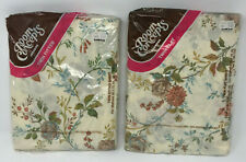 Bibb Room Concepts Twin Sheet Set Flat Fitted Vtg Floral New Old Stock Sealed