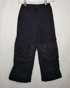 Lands End Kids Squall Snow Pants Black Grow-A-Longs 8 Boys Girls