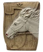 "Vintage Horse Head Planter Or Pencil Holder Succulent Plant Ceramic Clay 4 x 5"""