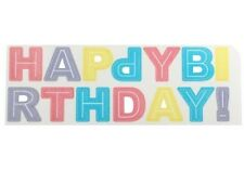 Happy Birthday Wafer  Cake Wording Rainbow Colours - Pastels Letters Cake Topper