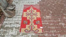 Oushak Rug 2'4x5'0 feet,Anatolian,Turkish kilim, Area Small, Vintage turkish rug