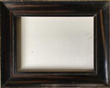 Marco de fotos edad para madera 1900 negro marrón vintage Antik Antique 29 x 22,2 cm