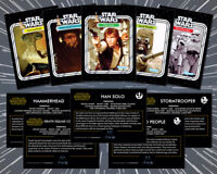 STAR WARS: (5 Card Lot) 1977 Topps Style Custom Kenner 12 Back Trading Cards (C)