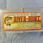 Vtg Heddon River Runt Spook Lure EMPTY BOX 9110-XBW w Catalog Paper - very good
