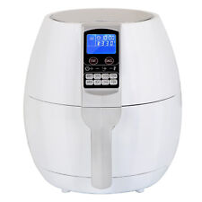 1500W LCD Electric Air Fryer W/ 8 Cooking Presets, Temperature Control, White