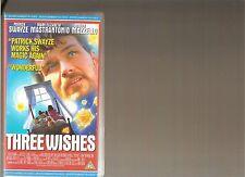3 THREE WISHES VHS VIDEO KIDS PATRICK SWAYZE