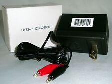 6VOLT OR 12VOLT BATTERY CHARGER 500MA For Charging Small 6V 12V Batteries 11OVAC