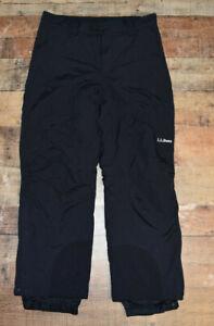 L L Bean Womens Ski Snow Insulated Pants Size Medium Regular Black Winter Nylon