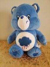 "Care Bear Blue Plush Grumpy Bear Talking Singing Musical 2015 13"" Works Great"