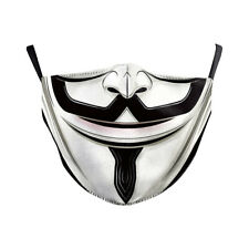 Adult Unisex Hip-Hop Guy Fawkes Washable Face V Masks Mouth Protective Filters