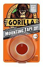 Gorilla glue 1.5M heavy duty double face étanche bande de montage transparent (lot de 6)