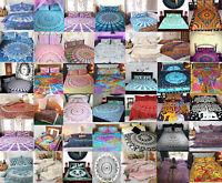 Mandala Quilt Duvet Doona Cover Set Single/Double/Queen/King Size Bed Oriental