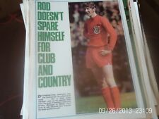 swindon town & wales rod thomas A4 colour football picture