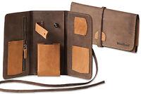 Woodland® Leder Pfeifentasche aus Wildleder in Hell- & Dunkelbraun Kombination