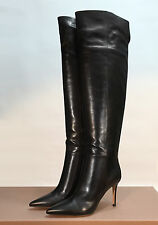 Gianvito Rossi Nappa Leather Stiletto Over The Knee Thigh Boots EU38.5/39 $1,760