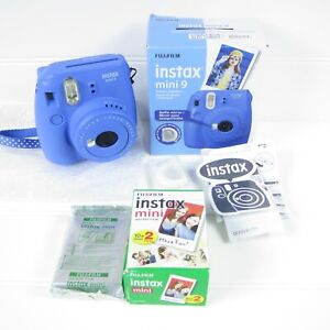 Fujifilm Instax Mini 9 - Cobalt Blue Instant Film Camera w/ 30+ FILM SHEETS