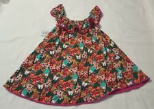 New Toddler Girl's Cat & Jack Orange Floral Tropical Print Cover Up Dress 5T