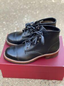 Wolverine Heritage 1000 Mile Cap Toe Boots size 7 D Men's Black Leather