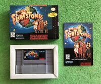 The Flintstones Complete SNES Super Nintendo CIB Original Game & FREE GIFT!