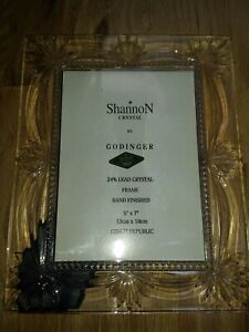 Shannon 24% Lead Crystal 5 x 7 Picture/Photo Frame Elegant Wedding Anniversary