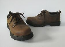 Skechers Mens Brown Leather Chunky Lug Sole Lace up Oxford Shoes 8.5
