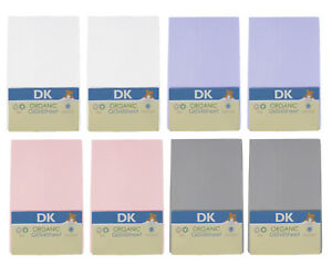 DK Glovesheet GOTS Organic Cotton Fitted Sheets 83x50cm To Fit Next To Me Crib