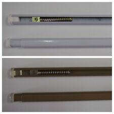 Bacchetta tende a molla varie misure per vetro bianco bronzo estensibile asta1pz