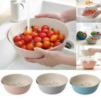 2 in 1 Wash Rice Mesh Sieve Strainers Vegetable Fruit Basket Kitchen Tool Bowl
