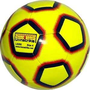 Size 4 Lionstrike Football - Lite Training football for 7-13 yr olds - Yellow