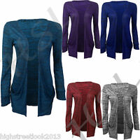 NEW WOMENS LADIES LONG SLEEVE DISCHARGE PRINT BOYFRIEND CARDIGAN TOP