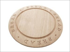 Stow Green Rubberwood Bread Board Round Carved 1210