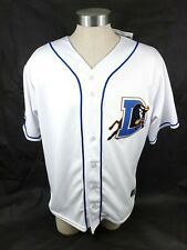 Durham Bulls Home Jersey OT Sports Sewn Button Tampa Bay Rays Size L Made In USA