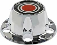 NEW Chrome Wheel Hub Center Cap Red w/ Screws for 1980-1996 Ford F150 Bronco Van