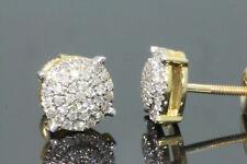 10K YELLOW GOLD .25 CARAT MENS WOMENS 6 mm 100% GENUINE DIAMONDS EARRING STUDS