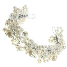 Bridal Wedding Diamond Crystal Rhinestone Flower Hair pin Clip Pearl Crysta M1O8
