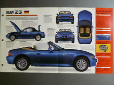 "1996 - Present BMW Z3 IMP ""Hot Cars"" Spec Sheet Folder Brochure #3-9 Awesome"
