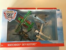 2019 MATCHBOX SKY BUSTERS HELICOPTER PLANE 4 PACK GCC92 VHTF NEW