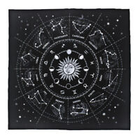 Divination Tarot Table Cloth Starry Sky Constellation Velvet Tapestry 49cm