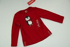 Gymboree Holiday Penguin Chalet Baby Girls Size 3-6 Months Top Shirt NWT